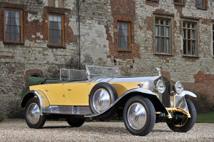Yellow 1929 Rolls Royce Phantom I