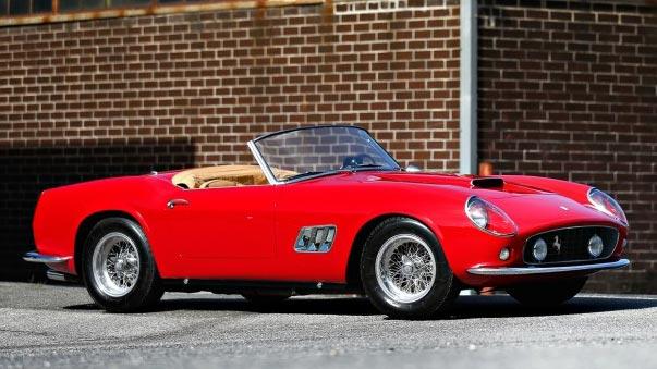 1961 Ferrari 250 GT SWB California Spider sold at Pebble Beach 2014