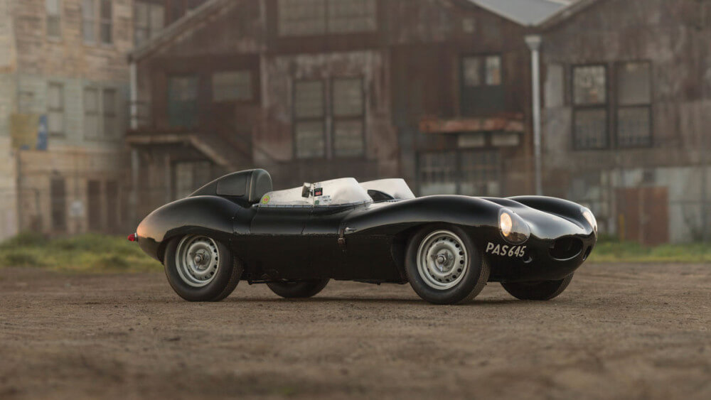 1955 Jaguar D-Type profile