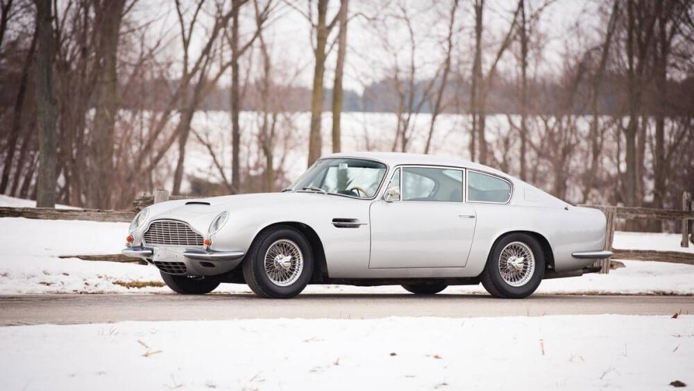 1970 Aston Martin DB6 Mk II in snow