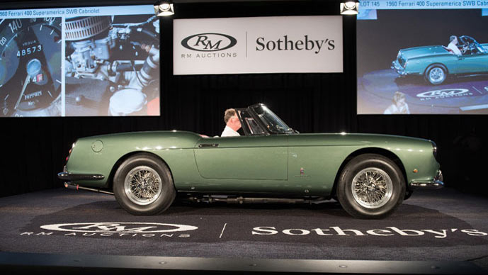 1960 Ferrari 400 Superamerica SWB Cabriolet at RM Sotheby's Auction