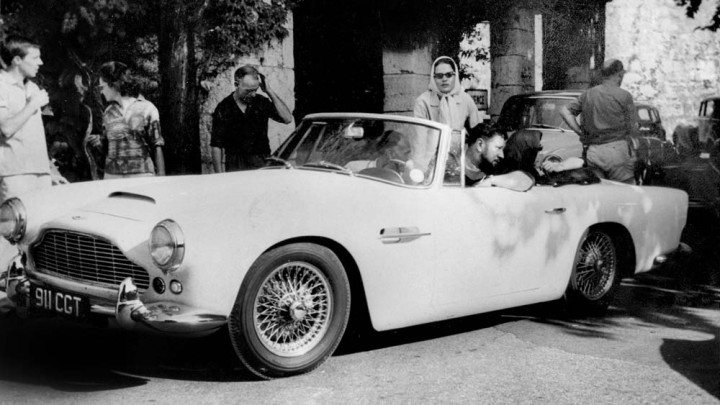 1962 Aston Martin DB4 Series IV Vantage Convertible with Peter Ustinov