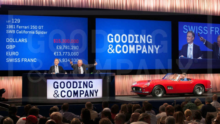 1961 Ferrari 250 GT SWB California Spider, sold for $16,830,000
