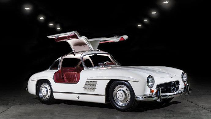 White 1955 Mercedes-Benz 300 SL Gullwing