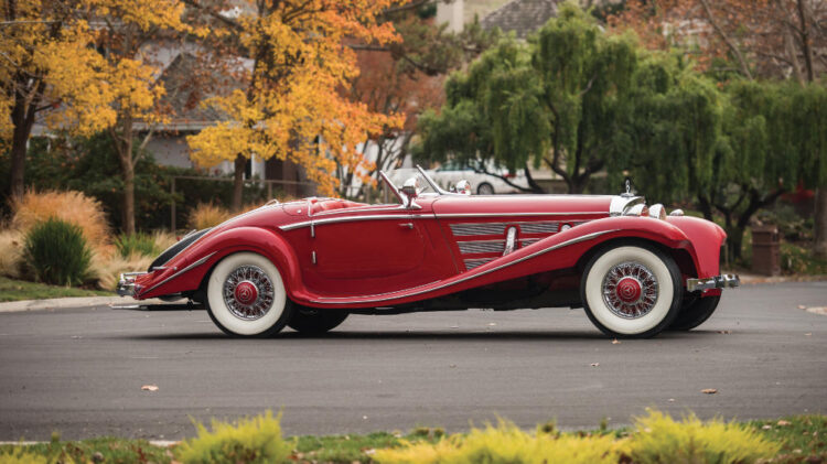 The auction record for Scottsdale / Arizona is $9,900,000 achieved by a 1937 Mercedes Benz 540 K Special Roadster by Sindelfingen at the RM Sotheby's Arizona 2016 auction.