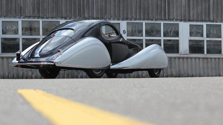 1937 Talbot-Lago T150-C SS Coupe rear quarter