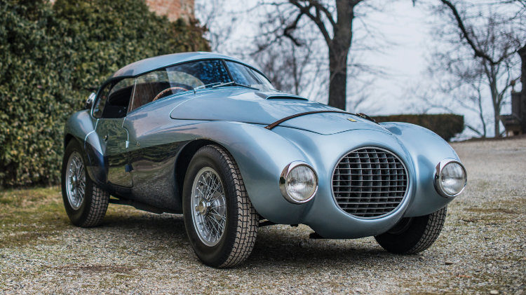 1950 Ferrari 166 MM 212 Export Uovo front quarter