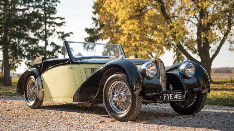 1937 Bugatti Type 57S Cabriolet Vanvooren