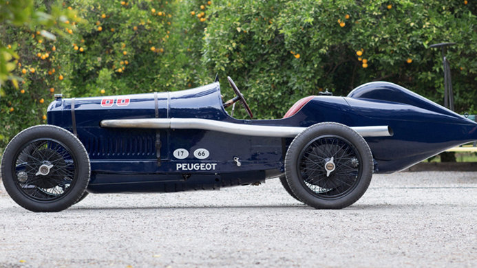 Bothwell 1913 Indianapolis Peugeot Grand Prix Side Profile