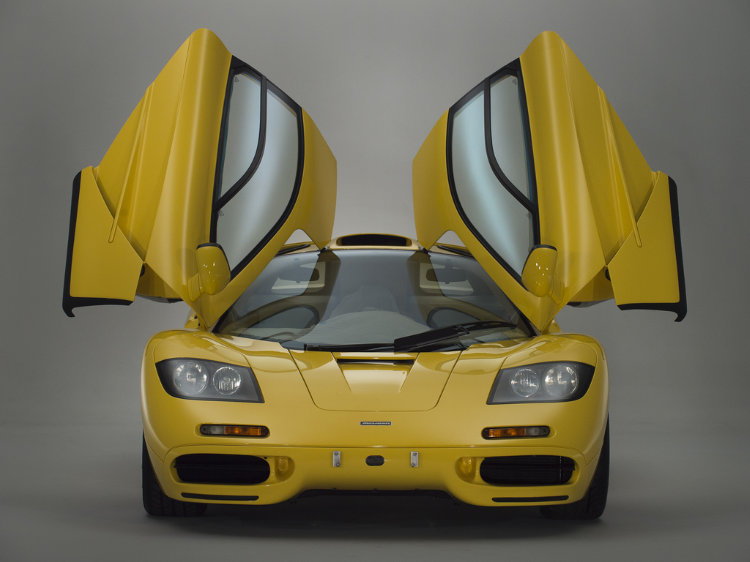 1997 McLaren F1 Yellow Open Doors