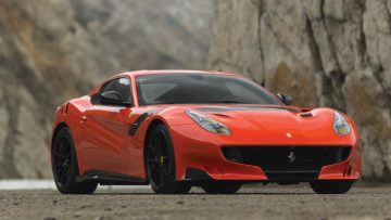 Orange-red 2016 Ferrari F12tdf