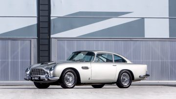 London 1964 Aston Martin DB5 4 2-Litre Sports Saloon front quarter