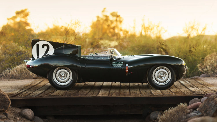 1954 Jaguar D-Type Works Side Profile