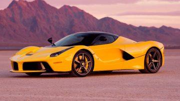 Yellow 2015 Ferrari LaFerrari