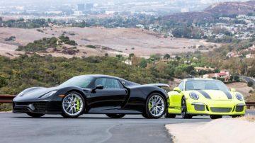 Porsche 918 and 911 R