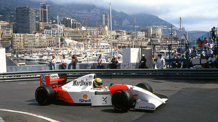 1993 McLaren in Monaco