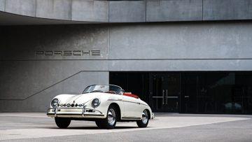 1956 Porsche 356 A 1600 S Speedster at Porsche Experience Center