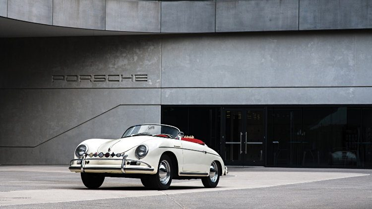 1956 Porsche 356 A 1600 S Speedster at Porsche Experience Center