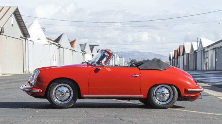 Red 1963 Porsche 356 Carrera 2 GS Cabriolet