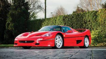 1996 Ferrari F50, estimate €1.700.000 - €1.900.000 ($1,900,000 - $2,150,000)