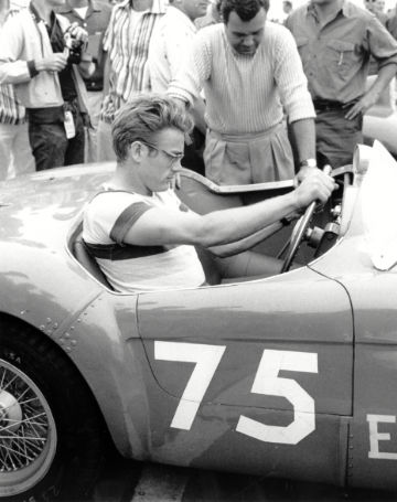 James Dean in a 1954 Ferrari 500 Mondial