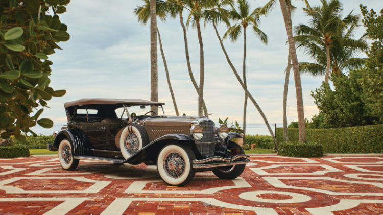 1930 Duesenberg Model J 'Sweep Panel' Dual-Cowl Phaeton by LeBaron (Rafael Martin © 2018 Courtesy of RM Sotheby's)