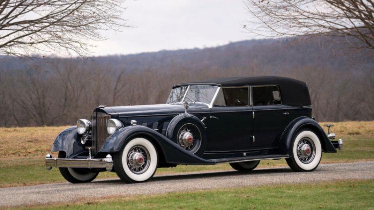 1934 Packard Twelve Convertible Sedan Custom