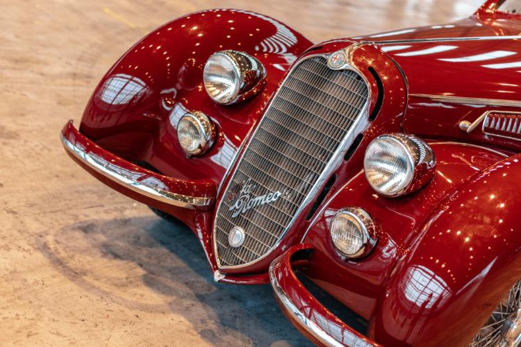 Detail of 1939 Alfa Romeo 8C 2900B Touring Berlinetta