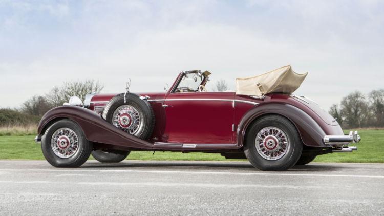 1939 Mercedes-Benz 540 K Cabriolet A Side Rear