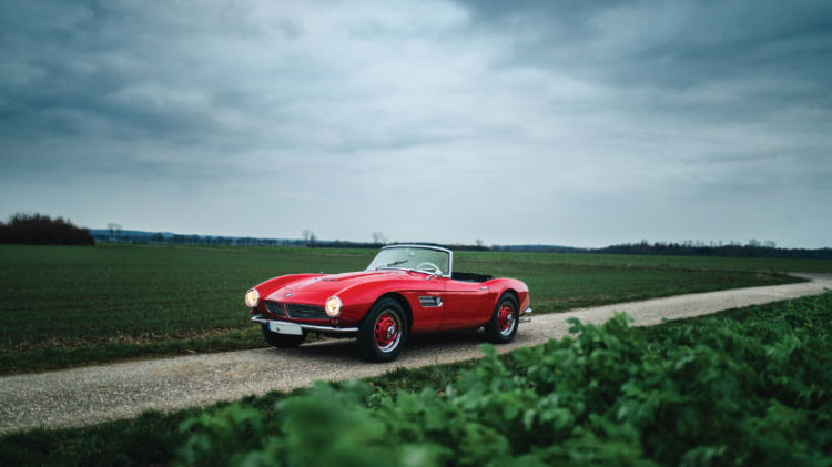 Red 1959 BMW 507 Roadster Series II