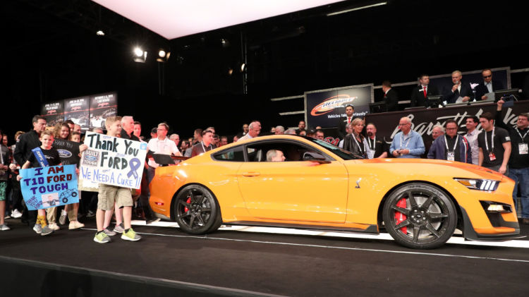 2020 Ford Mustang Shelby GT500 VIN 001 sold for $1.1 million © Barrett-Jackson