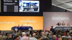 A 1951 Maserati A6G/2000 Spider by Frua sold for $2,755,000 as the top result at the Bonhams Scottsdale 2019 classic car auction.