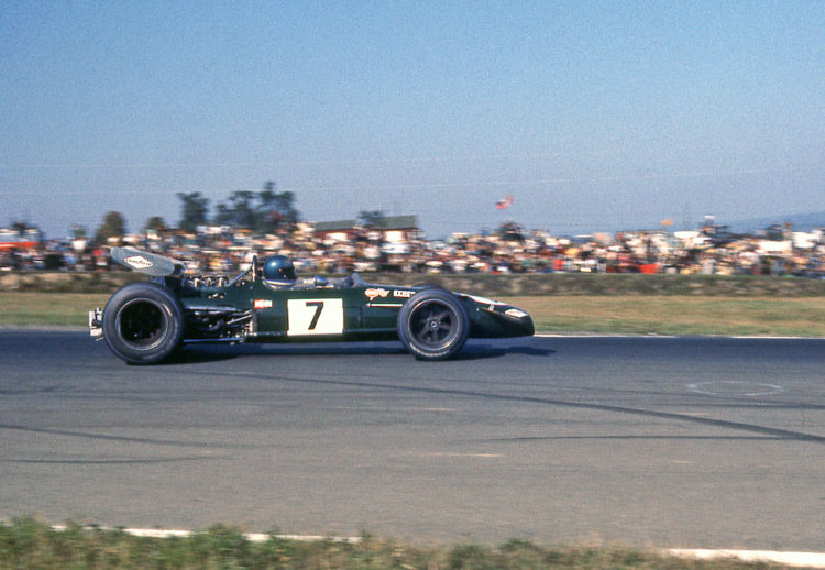 Jacky Ickx driving the 1969 Brabham- Cosworth BT26A in the Mexican Grand Prix