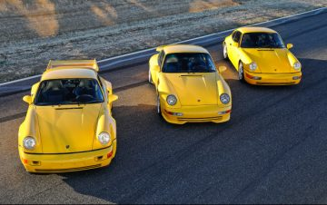 1993 Porsche 964 Carrera RS 3.8, 1995 Porsche 993 Carrera RS 3.8, 1992 Porsche 964 Carrera RS