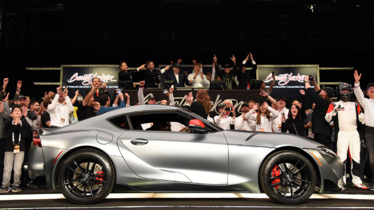 2020 Toyota Supra VIN 20201 (Lot #3010), which raised $2.1 million to benefit the American Heart Association and The Bob Woodruff Foundation