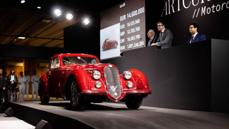 1939 Alfa Romeo 8C 2900B Touring Berlinetta at Auction