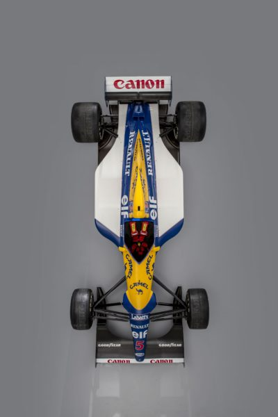 1992 Williams-Renault FW14B chassis '08' Formula 1 car Above