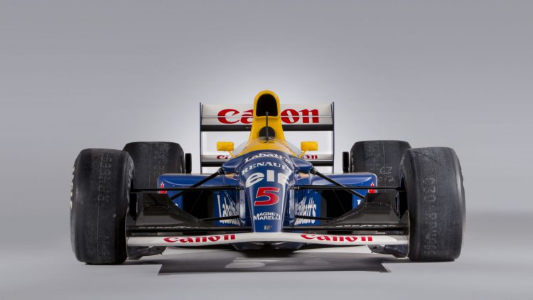 1992 Williams-Renault FW14B chassis '08' Formula 1 car Front