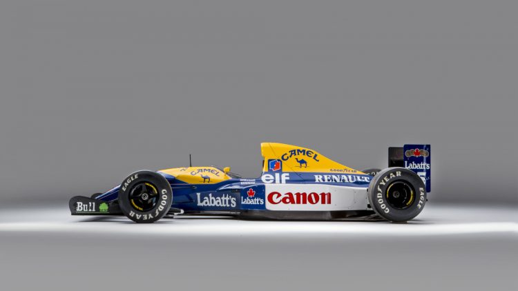 1992 Williams-Renault FW14B chassis '08' Formula 1 car Profile