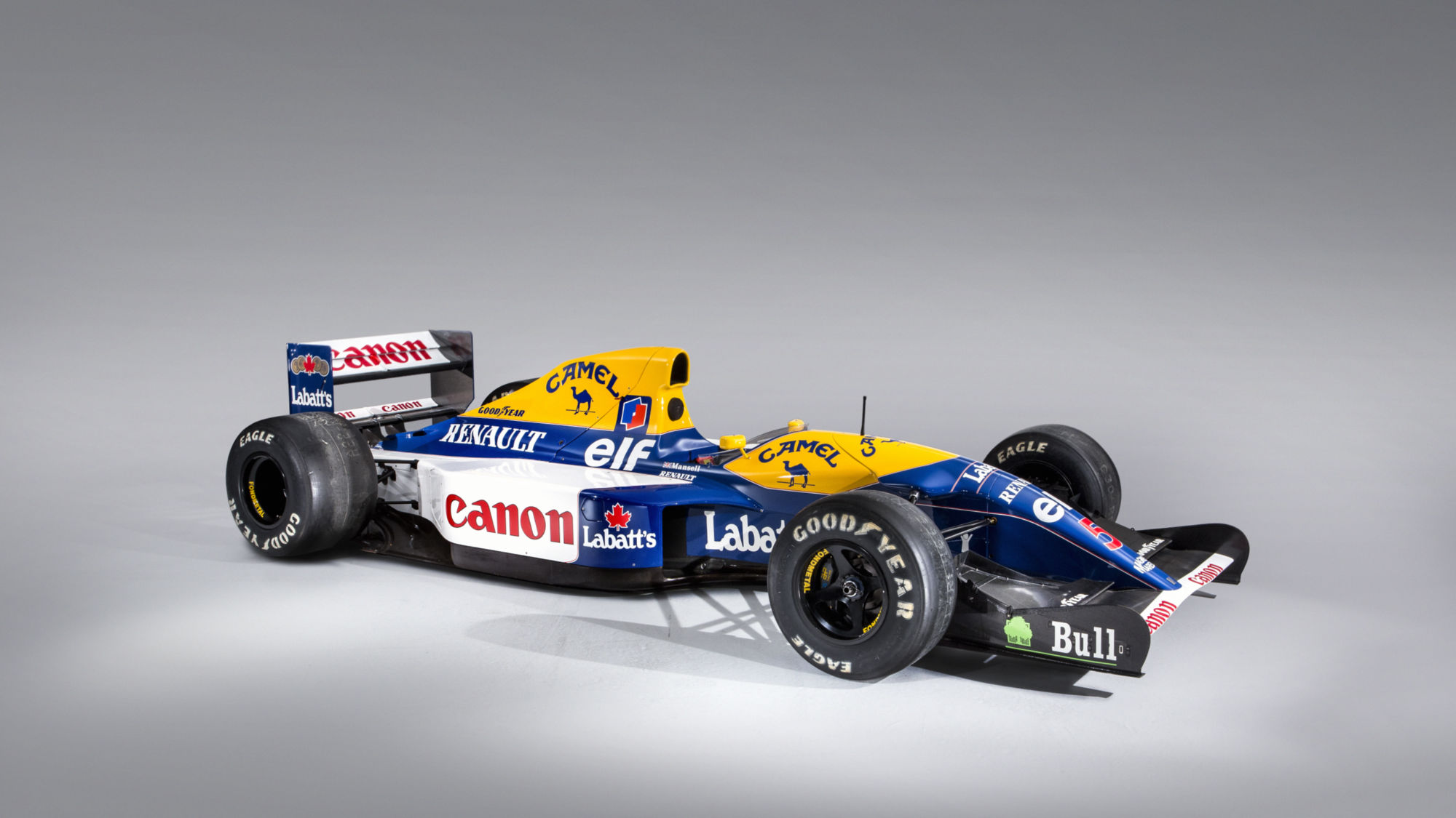Nigel Mansell's 1992 Williams-Renault FW14B Formula 1 car © Bonhams