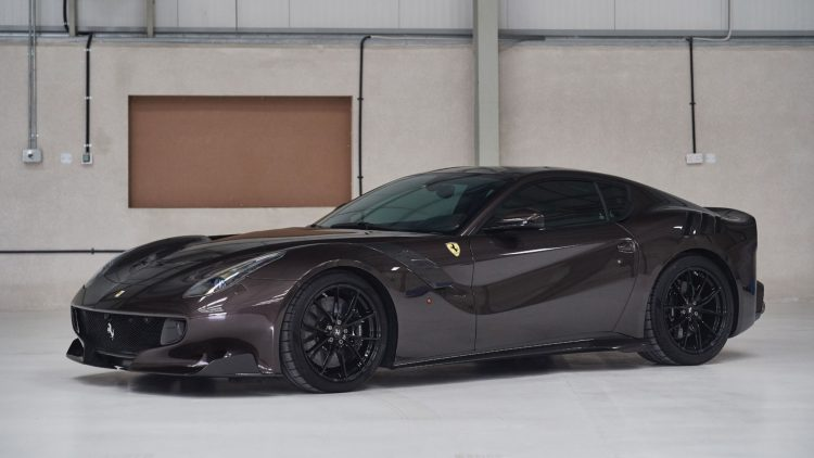 2017 Ferrari F12tdf finished in Brunito paint (metallic brownish)