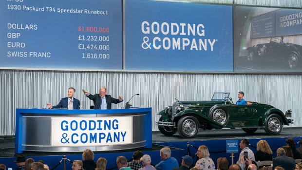 The top result at the Gooding Amelia Island 2019 classic car auction was $1,765,000 paid for a 1930 Packard 734 Speedster Runabout, estimate $1,700,000 – $2,000,000.
