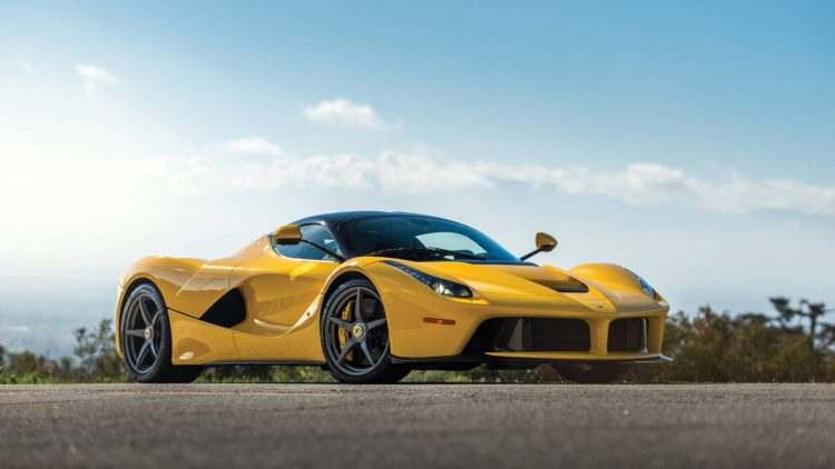 Yellow 2015 Ferrari LaFerrari