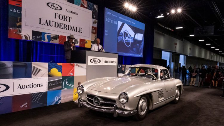 Silver 1955 Mercedes-Benz 300 SL Gullwing at Auction