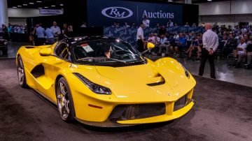 Yellow 2015 Ferrari LaFerrari at Auction
