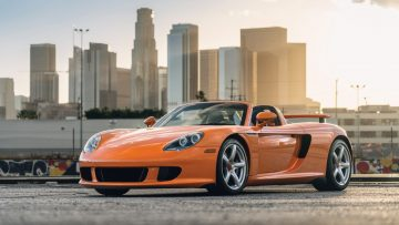Orange 2005 Porsche Carrera GT
