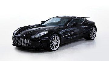 Black 2011 Aston Martin One-77