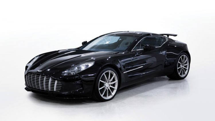 Black 2011 Aston Martin One-77
