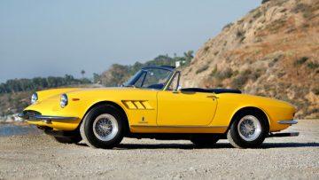 Yellow 1967 Ferrari 330 GTS