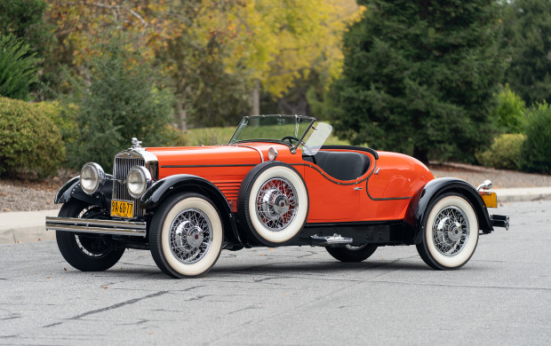 1930 Stutz Series M Boattail Speedster Orange black